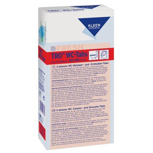 Kleen TRO WC TABS karton 16 x 25 g  do pisuarów i WC