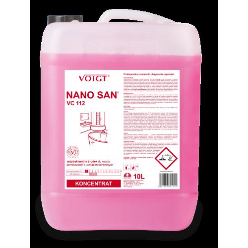 VC 112 10l. NANO SAN antybakteryjny do bieżącego mycia sanitariatów pH 2
