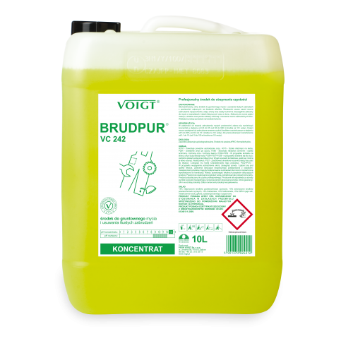VC 242 10l. BRUDPUR do tłustego brudu i zanieczyszczeń przemysłowych pH 13