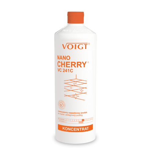 VC 241 C 1l. NANO CHERRY nowoczesny i zapachowy płyn do bieżącego mycia podłóg kamiennych, płytek, oraz ceramiki