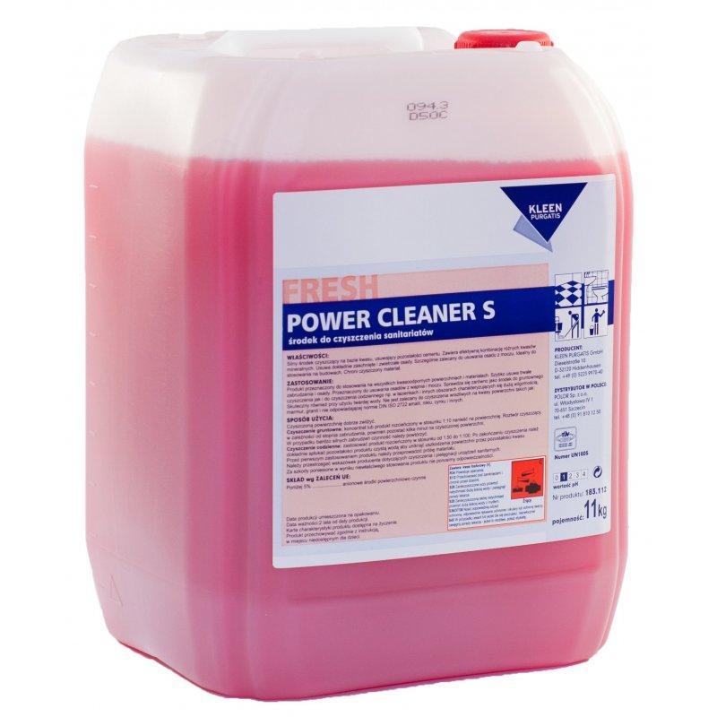 Kleen POWER CLEANER S 11 l pH 1 doczyszczający sanitariaty baseny