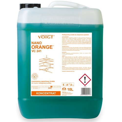 VC 241 10l. NANO ORANGE Kanister - nowoczesny i zapachowy płyn do bieżącego mycia podłóg kamiennych, płytek, oraz ceramiki