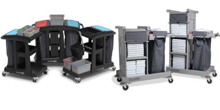 Profesjonalne wózki sprzątające wózki serwisowe oraz hotelowe marki Numatic oraz TTS