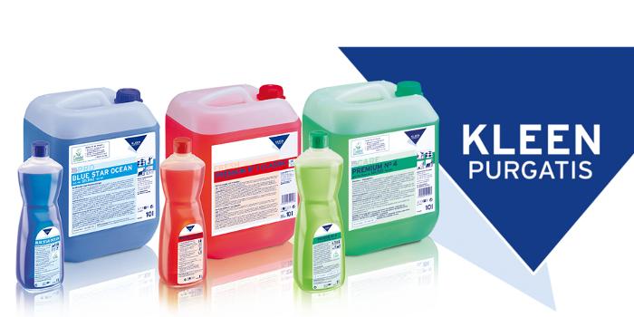 Najwyższej jakości profesjonalna niemiecka chemia marki KLEEN do domu firm sprzątających hoteli przemysłu i branży gastronomicznej